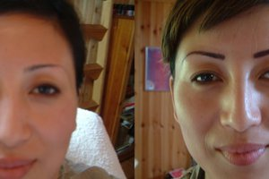 Before & After Semi-permanent Makeup for the Eyebrow